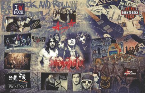 Фотообои для кафе паба рок музыка (commercial-00008)