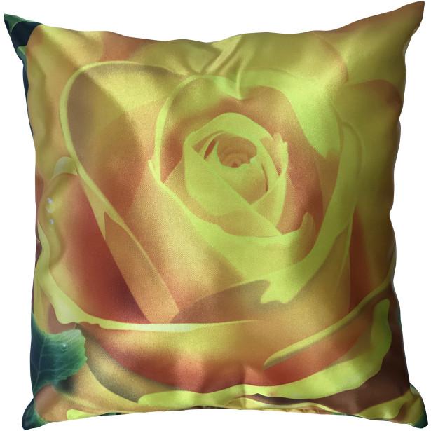 Подушка Желтая роза (deco-1)
