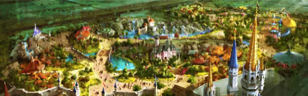 Фотообои панорама сказочного города (fantasy-0000014)