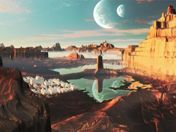 Фотообои фантастический ландшафт (fantasy-0000069)