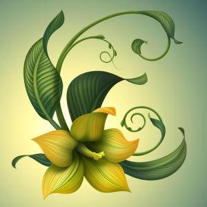 Фотообои Желтая лилия (flowers-745)