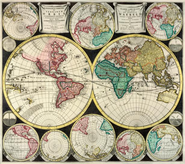 атлас, география, карты, старая карта (map-0000131)