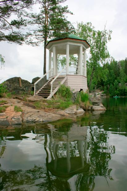 Фотообои с природой беседка на озере (nature-00118)
