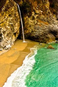 Фотообои с природой горный водопад море (nature-00134)