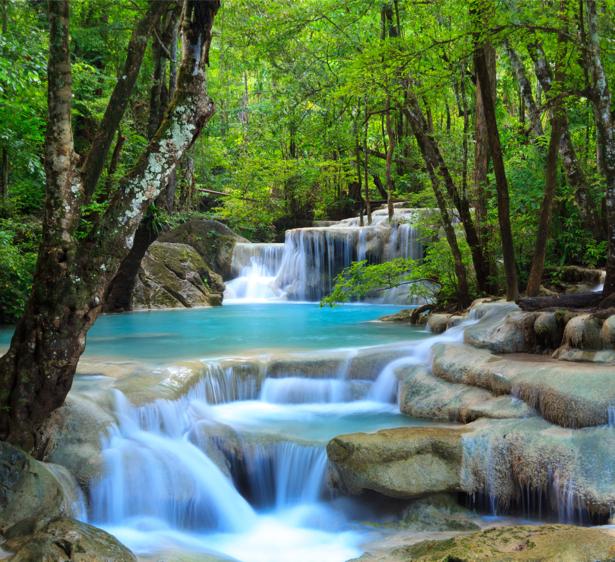 Фотообои водопад каскад воды (nature-00455)