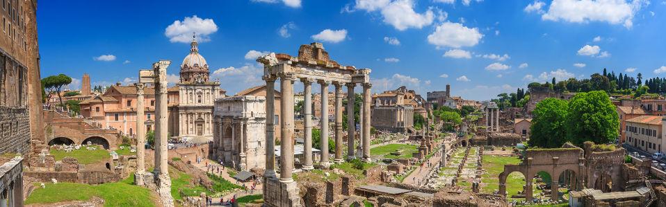 Фотообои Римский форум в Риме (panorama-58)