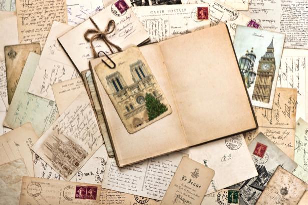 Фотообои винтаж письма и открытки (retro-vintage-0000171)