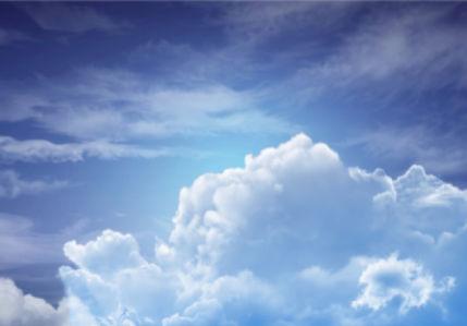 Фотообои голубое небо с облаками 3 (sky-0000109)