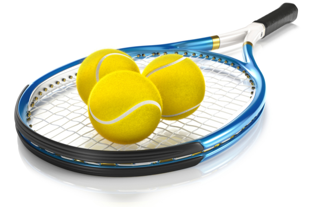 Фотообои ракетка и три мяча (sport-0000143)