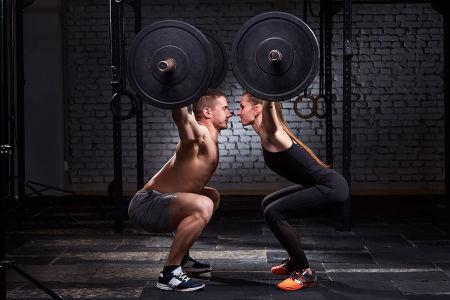 Фотообои Тренировка со штангой (sport-185)