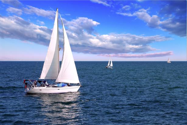 Фотообои яхты на регате (transport-0000141)