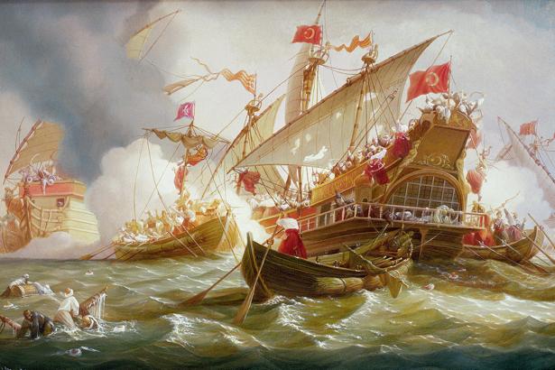 Штурм турецкого флота казацкими чайками (ukraine-0070)
