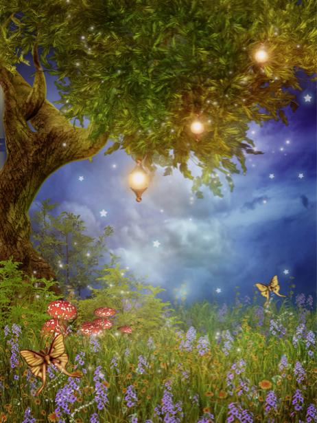 Детские фотообои Сказочное дерево (children-0000096)