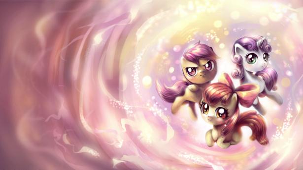 Детские фотообои пони лошадки (children-0000145)