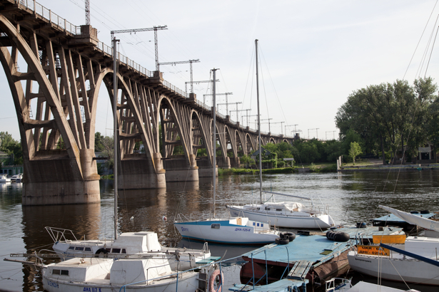 Фотообои Днепропетровск лодки Украина (city-0000854)