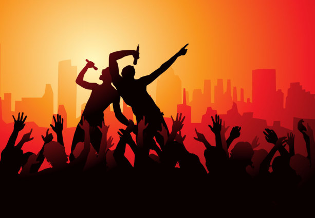Фотообои бар музыкальный концерт (commercial-00036)