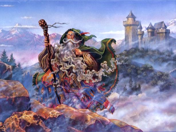 Фотообои старый волшебник (fantasy-0000073)