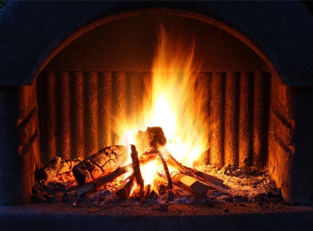 Фотообои огонь в камине (fire-008)