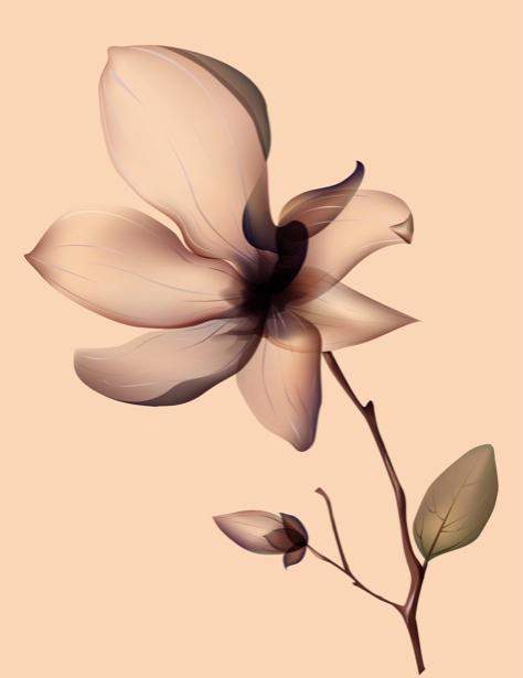 Фотообои на стену цветы для спальни (flowers-0000277)