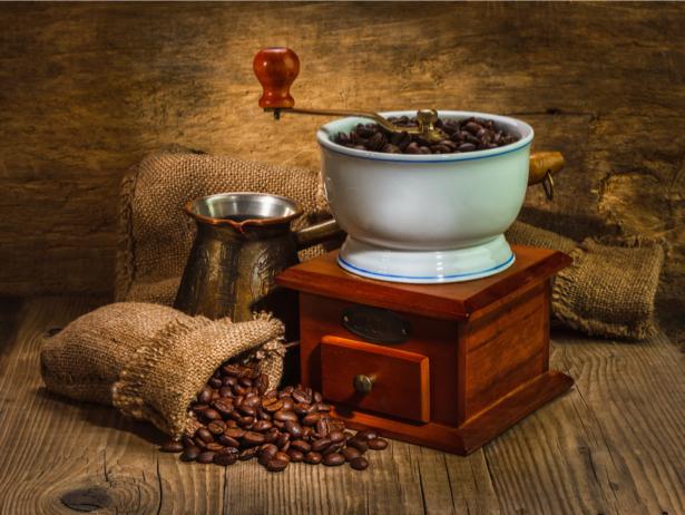 Кофемолка зерна кофе Обои на кухню (food-0000153)