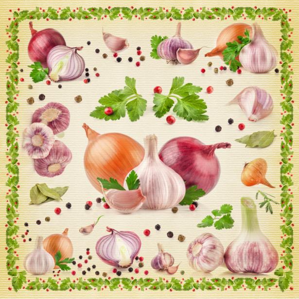Фотообои для кухни коллаж из овощей (food-0000264)