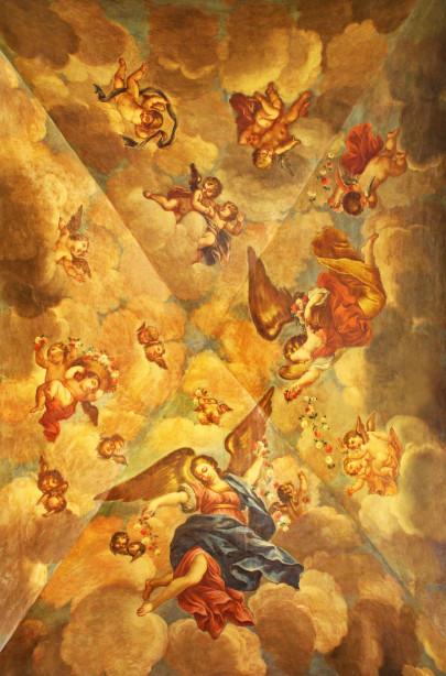 Фотообои фреска в ризнице (fresco-010)