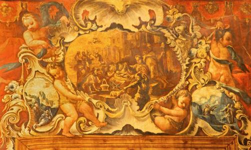 Фотообои Рождество и ангелы (fresco-012)