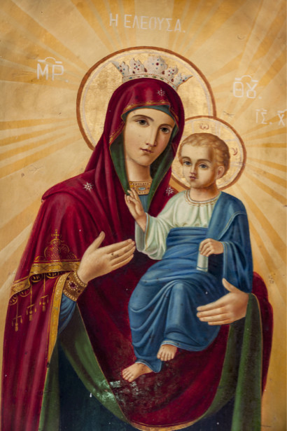 Икона Дева Мария и Иисус Христос (icon-00107)