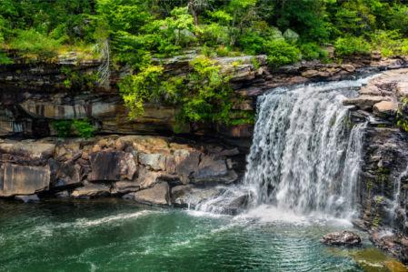 Фотообои водопад озеро (nature-0000858)