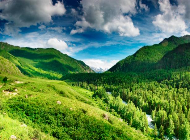 Фотообои с природой облака горный пейзаж (nature-00032)