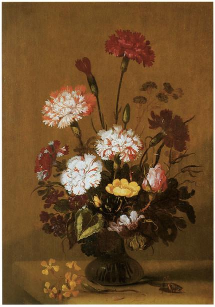 картина натюрморт ваза с цветами (pf-10)