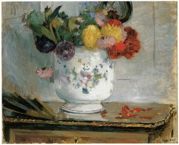 ваза с цветами, георгины Берта Моризо (pf-86)