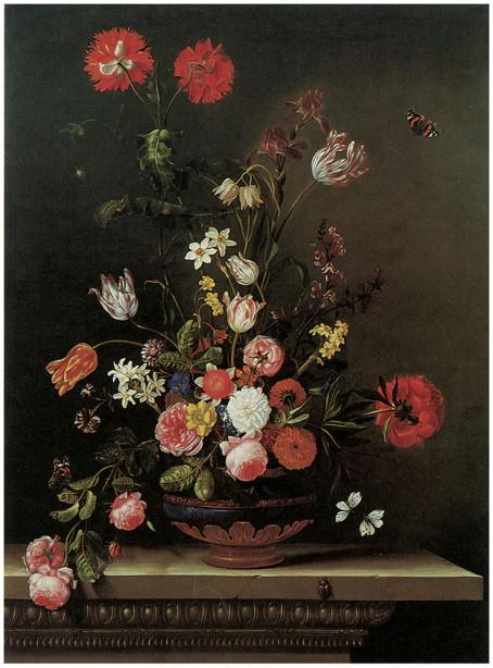 картина с цветами на холсте (pf-9)