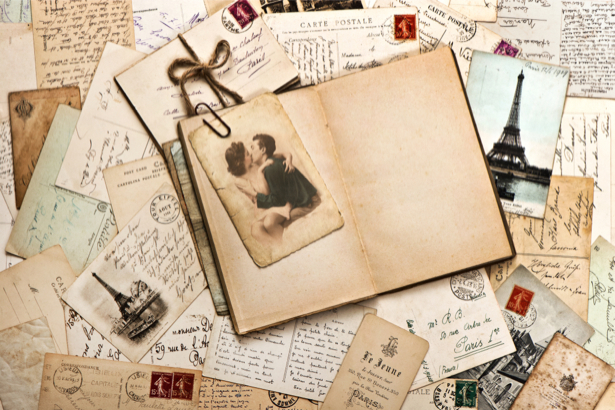 Фотообои письма открытки (retro-vintage-0000170)