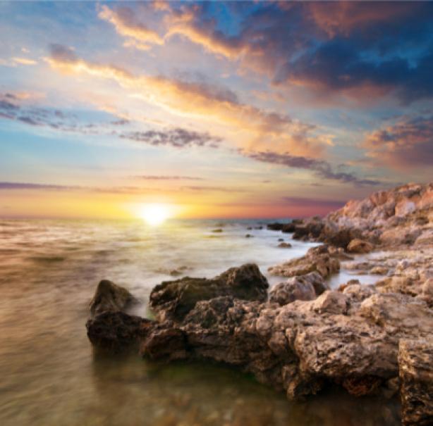Фотообои закат на морском береге (sea-0000090)