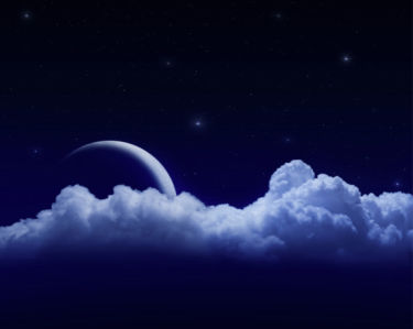 Фотообои месяц за облаками (sky-0000132)