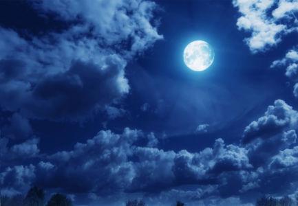 Фотообои луна в ночном небе (sky-0000135)