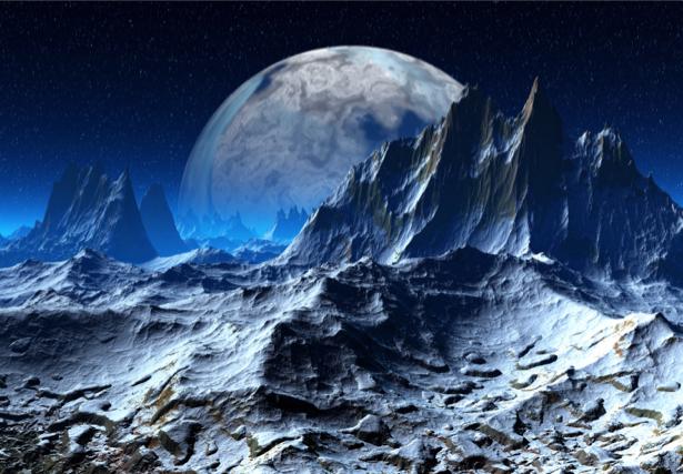 Фотообои инопланетные горы (space-0000043)