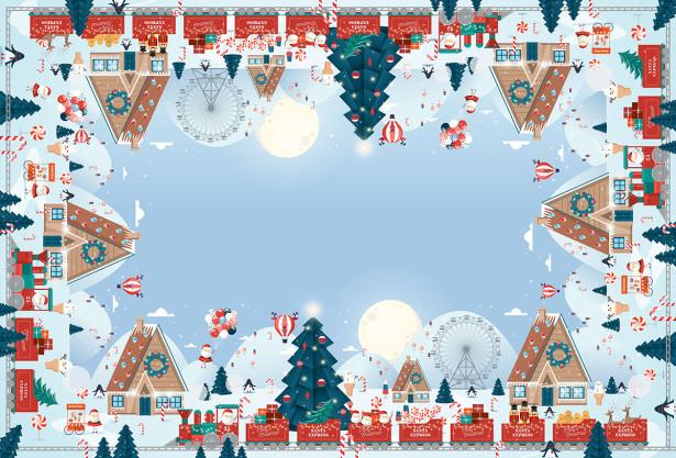 Скатерть Путешествие Санта Клауса (201)