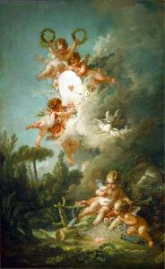 Обои картина любовные стрелы амура (angel-00040)