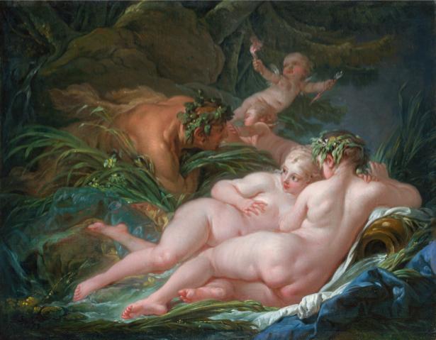 Франсуа Буше, жанровая композиция (art-0000130)