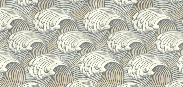 Фотообои волны графика морские (background-0000203)