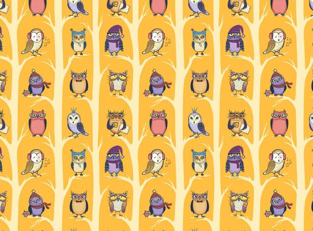 Фотообои Милые совушки (child-496)