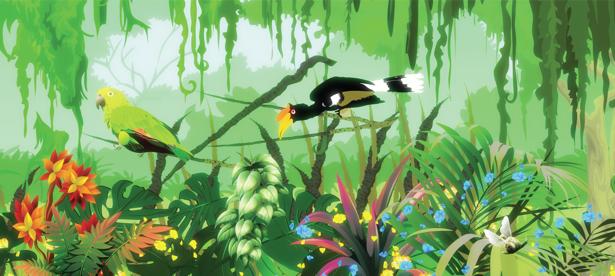 Животные в джунглях фотообои (children-0000237)