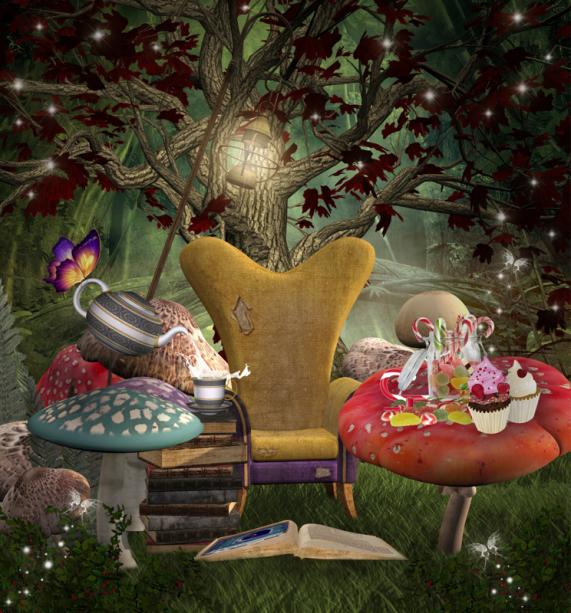 Алиса в стране чудес детские фотообои (children-0000378)