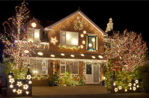 Фотообои рождественский домики (city-0000690)