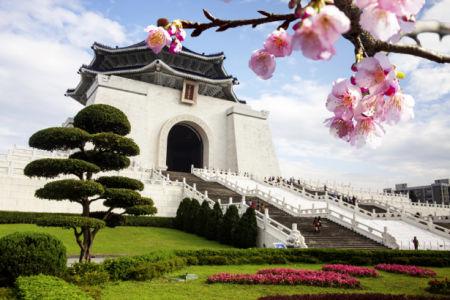 Фотообои восток сакура храм (city-0000819)