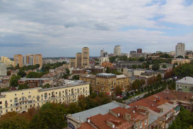 Фотообои крыши города Днепропетровска (city-0000955)