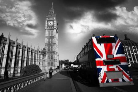 Фотообои черно белые Лондон Биг-Бен (city-0001242)