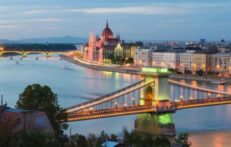 Фотообои Будапешт Венгрия мост Сечени (city-0001328)
